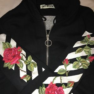 faef1ccc44c5 Off-White Jackets   Coats - OFF-WHITE EMBROIDERED ROSES HOODIE
